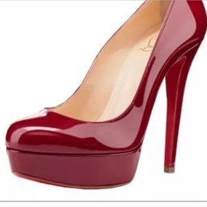 red/ deep maroon Christian Louboutin Bianca's- 38